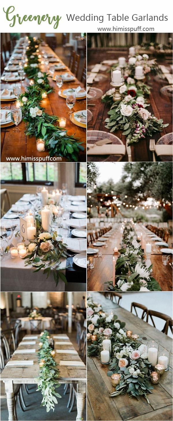 Garland Wedding Decor 40 Greenery Wedding Garland Decoration Ideas Hi Miss Puff