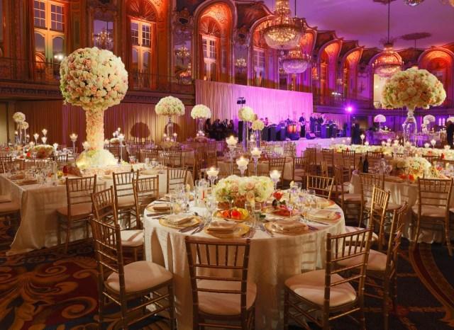 Glamourous Wedding Decor Hilton Chicago Wedding Flowers And Decorations Luxury Wedding
