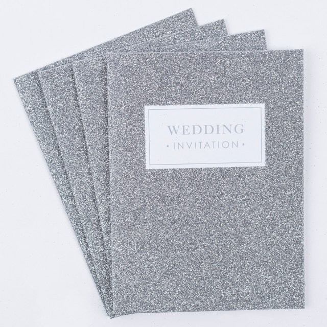 Glitter Wedding Invitations Glittery Wedding Invitations Pack Of 20 Only 399