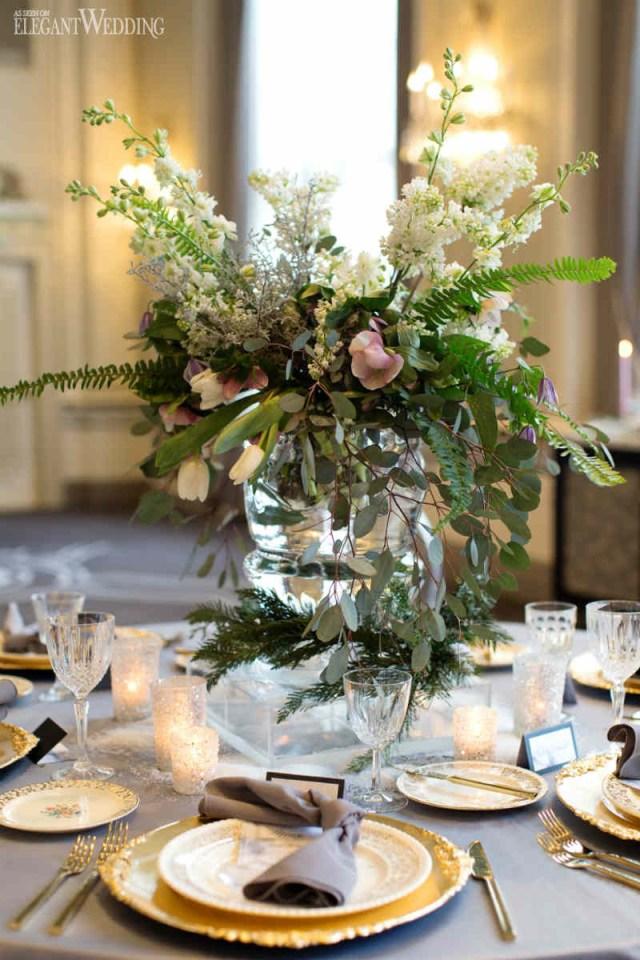Gold Wedding Decor Grey And Gold Winter Wedding Inspiration Elegantweddingca