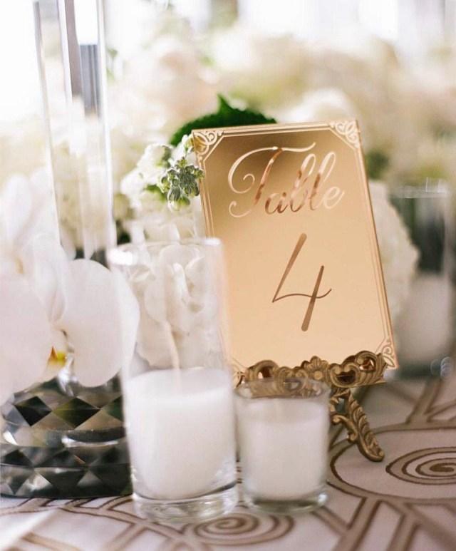 Gold Wedding Decor Mirrored Gold Acrylic Table Numberwedding Decorparty Decor