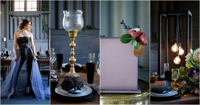 Gold Wedding Decor Striking Purple Black Gold Wedding Decor Ideas