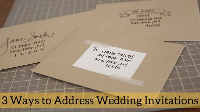 Handwritten Wedding Invitations 3 Ways To Address Wedding Invitations Youtube