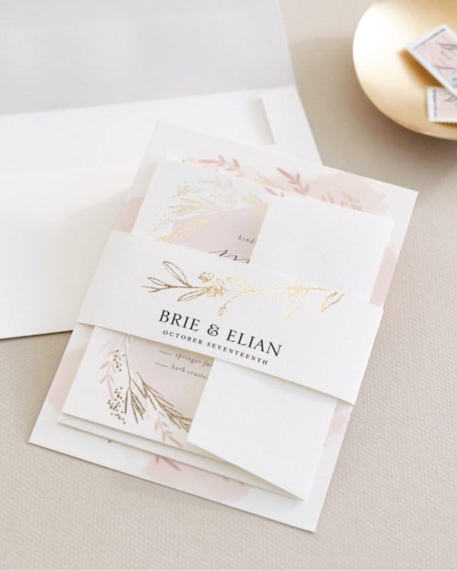 How To Stuff Wedding Invitations Assembling Wedding Invitations Minted