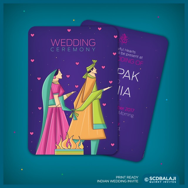 Indian Wedding Invitation Contemporary Indian Wedding Invite Package On Behance