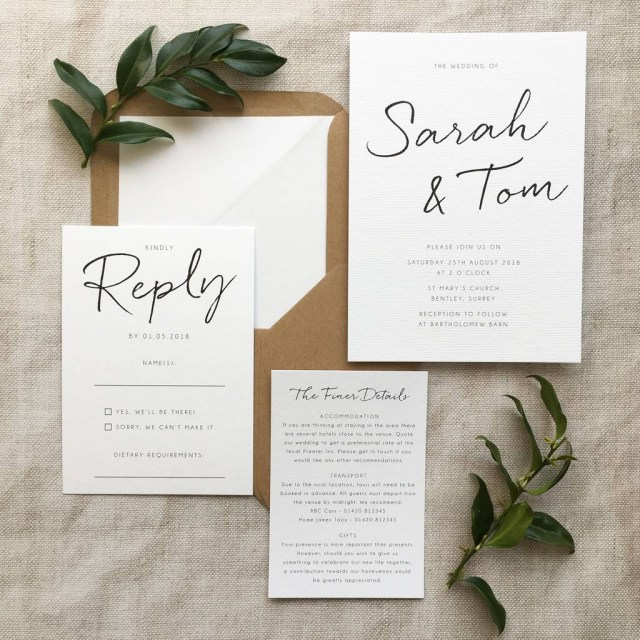 Invitation To Our Wedding 9 Ways To Save Money On Your Wedding Stationery Hitchedcouk