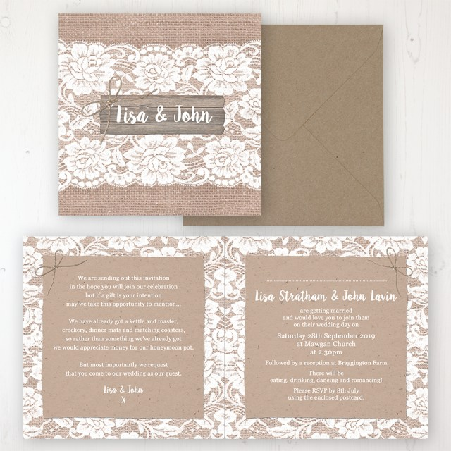 Invitation To Our Wedding Chantilly Lace Wedding Invitations Sarah Wants Stationery