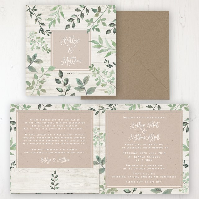 Invitation To Our Wedding Evergreen Forest Wedding Invitations Sarah Wants Stationery