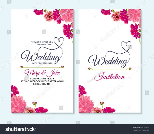 Invitation To Our Wedding Wedding Invitation Thank You Card Save Stock Vektorgrafik