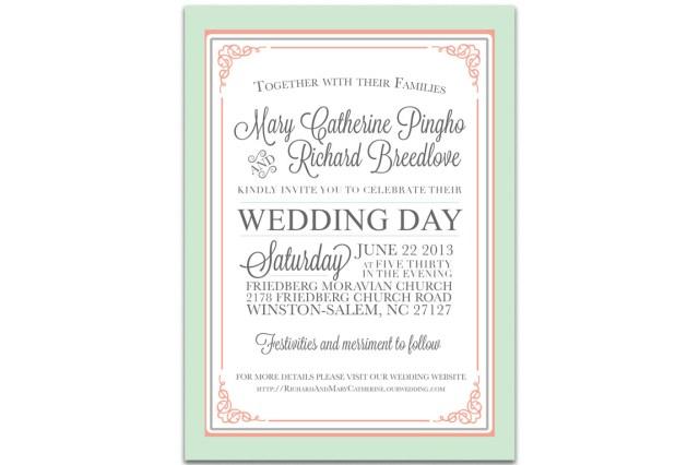 Invitation To Our Wedding Wedding Invitations Printing Winston Salem Printing
