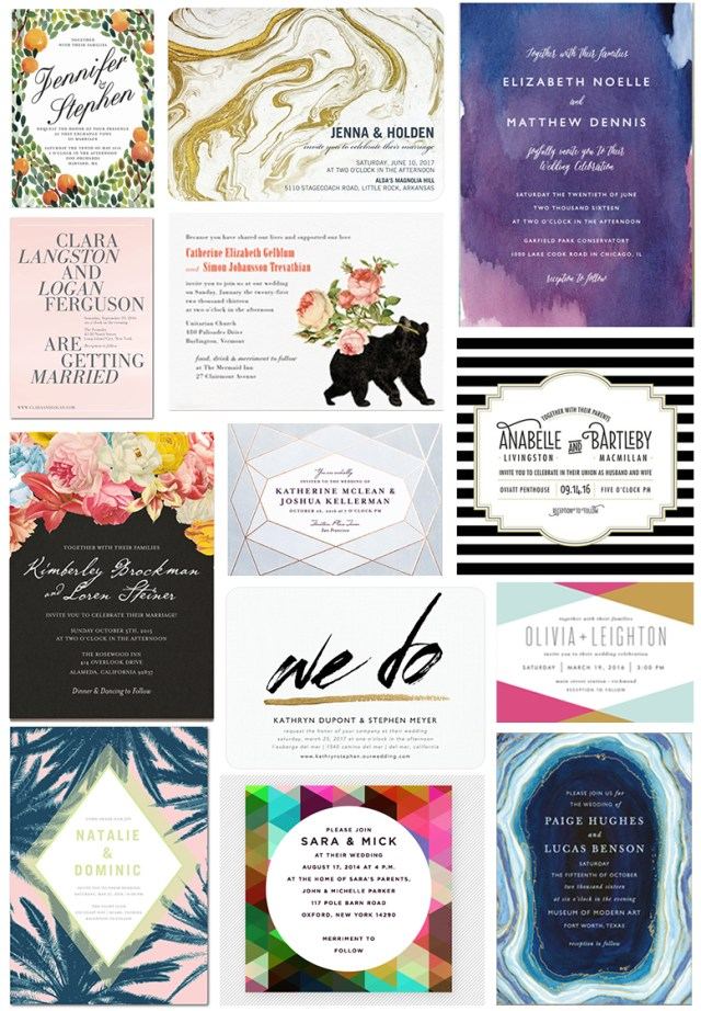 Invitations Wedding Cheap 35 Stylish Wedding Invitations That You Can Actually Afford