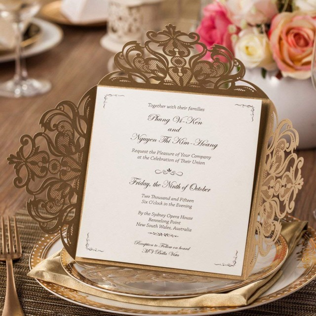 Invitations Wedding Cheap Cheap Gold Wedding Invitations Find Gold Wedding Invitations Deals