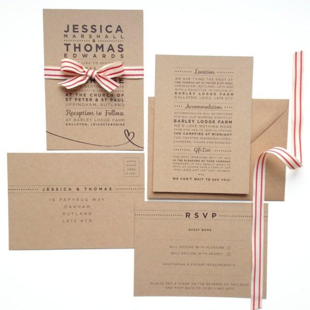 Kraft Wedding Invitations Henley Rustic Kraft Wedding Stationery Set Megan Claire