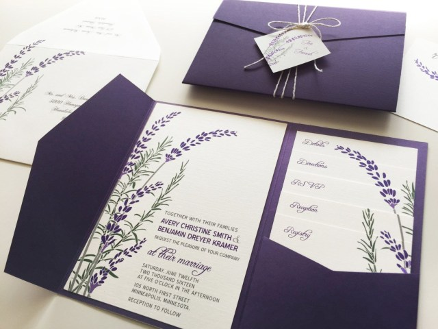 Lavender Wedding Invitations Lavender Wedding Invitations In 2019 Wedding Pinterest Wedding