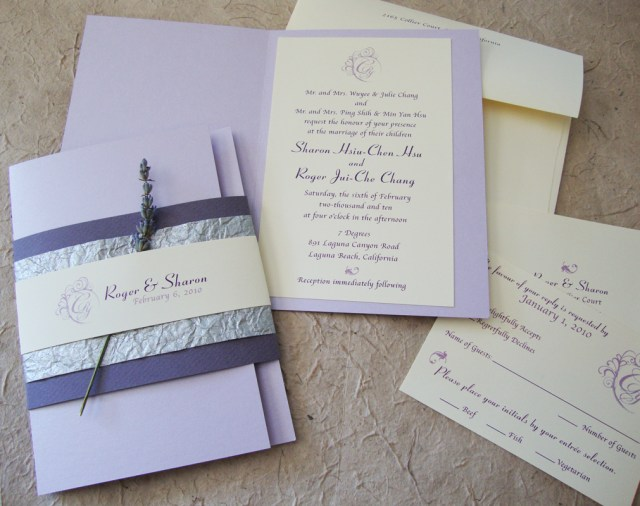 Lavender Wedding Invitations Lavender Wedding Invitations Lavender Wedding Invitations In