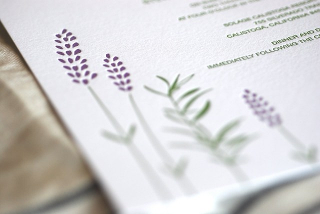 Lavender Wedding Invitations Rosemary Lavender