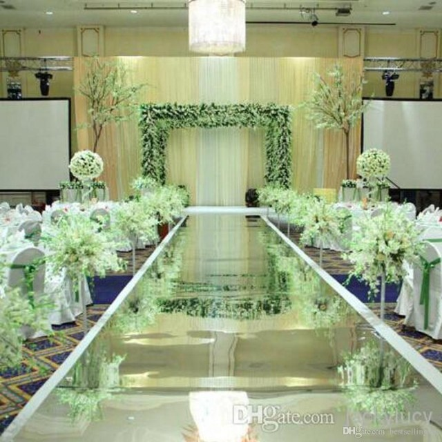 Luxury Wedding Decor 12 M Wide Luxury Wedding Centerpieces Decor Mirror Carpet Aisle
