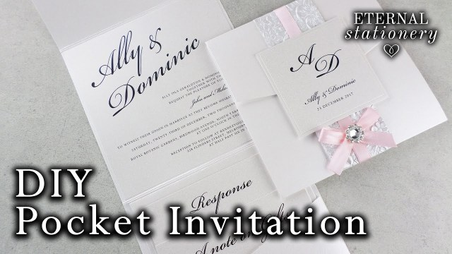 Making Wedding Invitations How To Make A Belly Band Pocket Invitation Diy Wedding Invitations