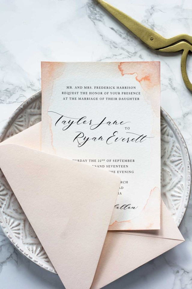 Making Wedding Invitations Subtle Watercolor Wedding Invitations How To Make Your Own