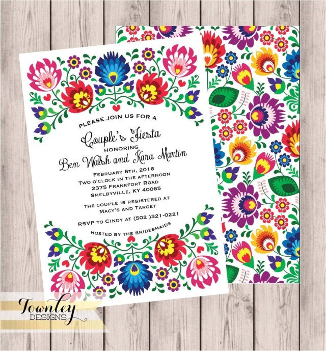 Mexican Wedding Invitations Mexican Fiesta Invitation Templates Free 2018 Mexican Wedding