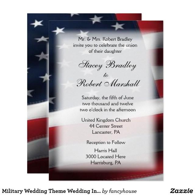 Military Wedding Invitations Military Wedding Theme Wedding Invitations 5 X 7 Military July