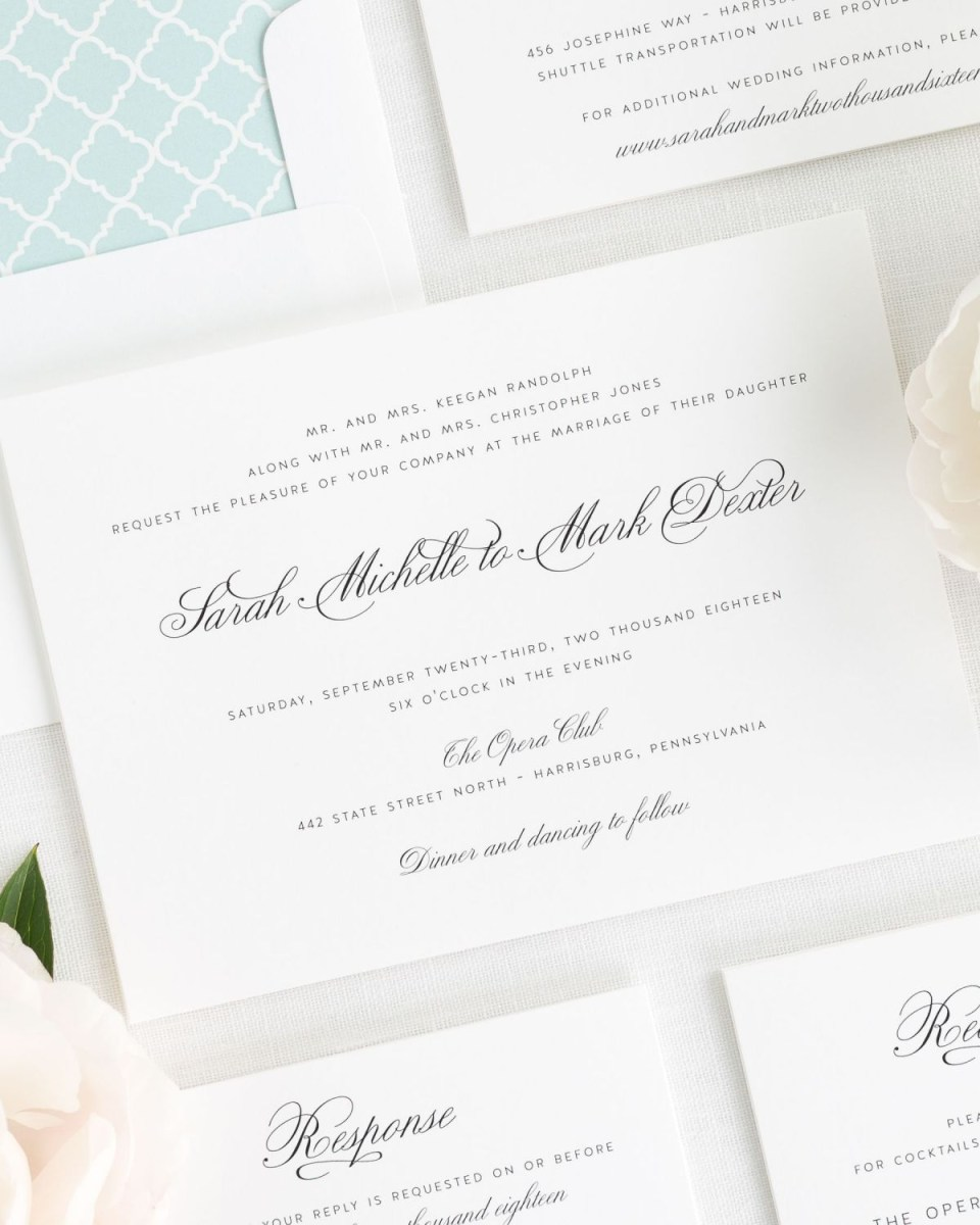 Minted Wedding Invitations Classic Mint Wedding Invitations With A Trellis Envelope Liner