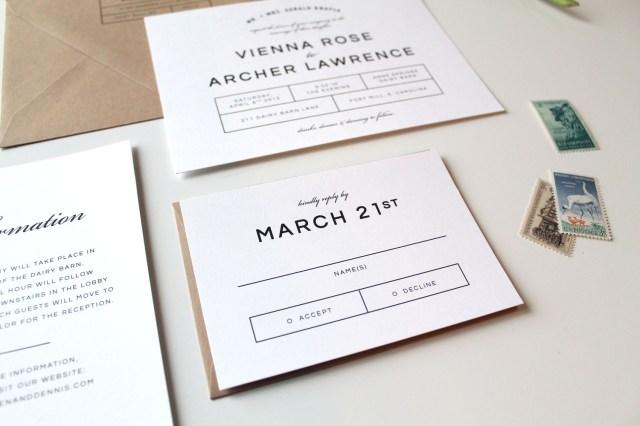 Modern Wedding Invitations Modern Wedding Invitations Tied Two