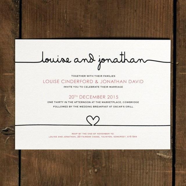 Modern Wedding Invitations Scribble Handwriting Wedding Invitation Set On Luxury Card Modern