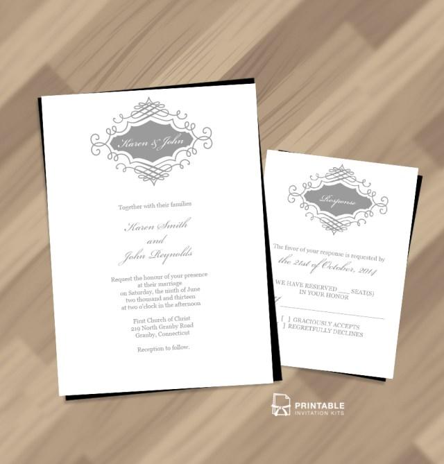 Monogram Wedding Invitations Beautiful Wedding Monogram Free Invitation And Rsvp Wedding