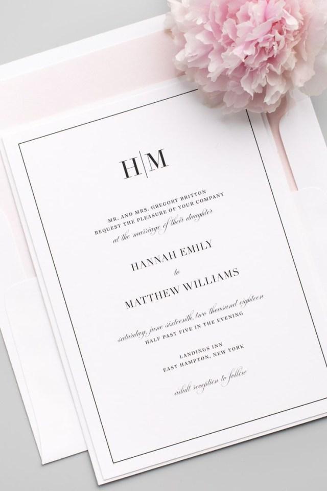 Monogram Wedding Invitations Glam Monogram Wedding Invitations In 2018 Member Board Stationery