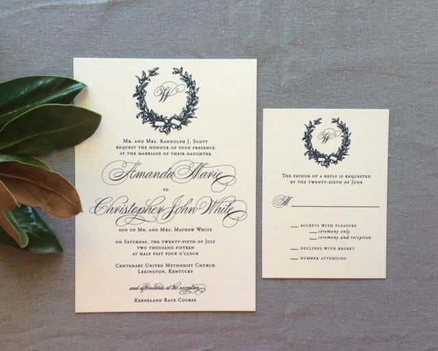 Monogram Wedding Invitations Wedding Ideas Monogram Wedding Invitations Grandioseparlor