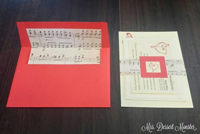 Music Themed Wedding Invitations Red Cream Music Themed Wedding Stationery Mrs Dessert Monster