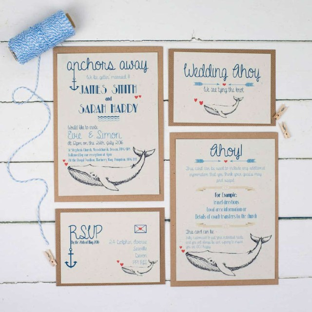 Music Themed Wedding Invitations Seaside Wedding Stationery 15 Costal Designs Hitchedcouk