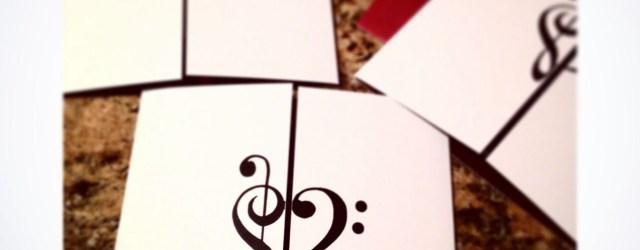 Music Themed Wedding Invitations Treble Clef Bass Clef Music Themed Invitation Cotillion