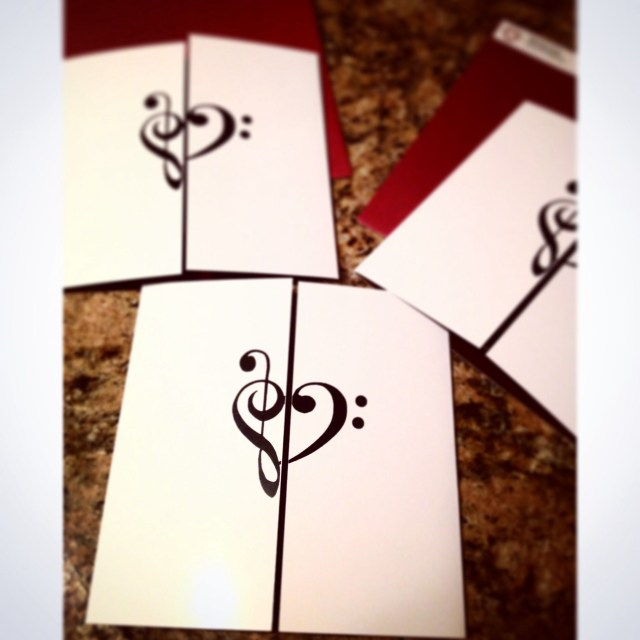 Music Themed Wedding Invitations Treble Clef Bass Clef Music Themed Invitation Cotillion