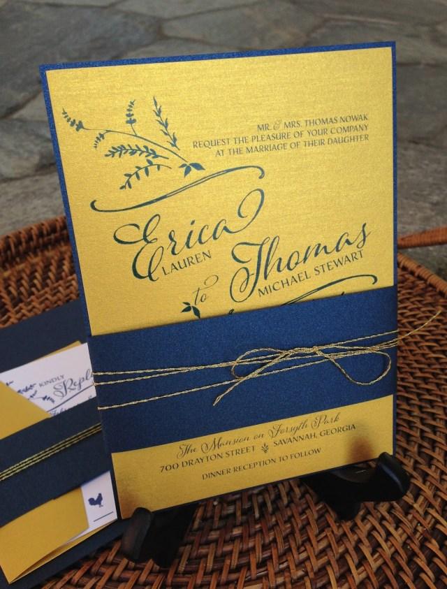 Navy Blue And Gold Wedding Invitations Kim Grant Ink Such Navy Blue And Gold Wedding Invitations