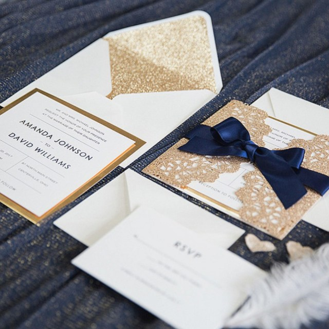 Navy Blue And Gold Wedding Invitations Navy Blue And Gold Wedding Invitations Awesome Elegant Rose Gold And