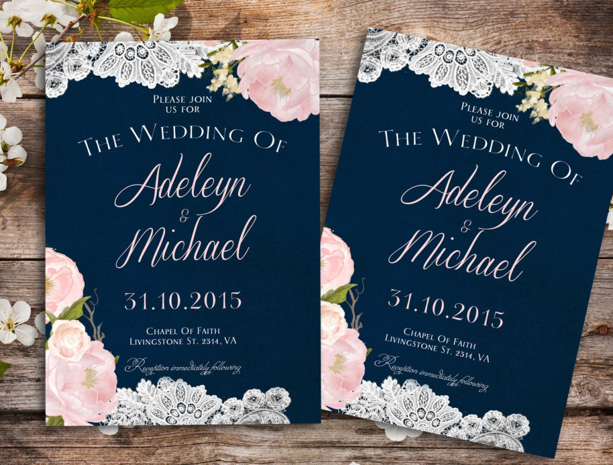 Navy Blue And Gold Wedding Invitations Navy Blue Wedding Invitations Marina Gallery Fine Art
