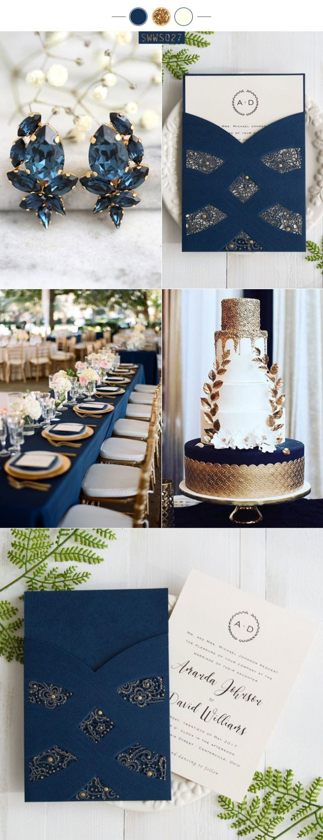 Navy Blue And Gold Wedding Invitations The Best 9 Navy Blue Wedding Invitations From Stylishwedd Stylish
