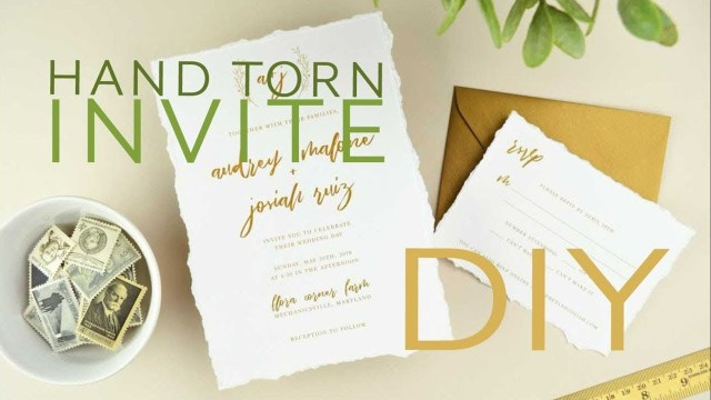 Paper For Wedding Invitations How To Diy Wedding Invitations With Hand Torn Deckled Edge Paper