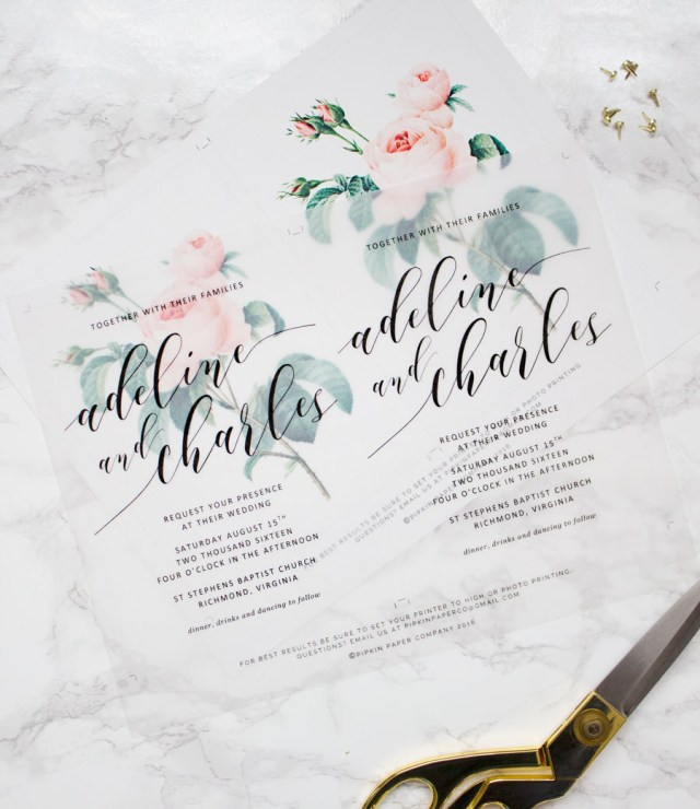 Paper Source Wedding Invitations Diy Floral Wedding Invitations Pipkin Paper Company