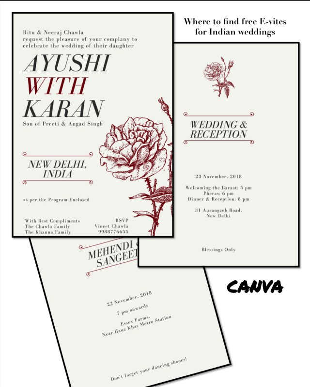 Paperless Wedding Invitations Best Places To Get Free Online Wedding Invitations For Indian Weddings