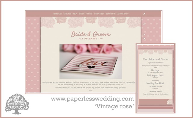 Paperless Wedding Invitations Personalise Your Wedding Website Digital Invitations