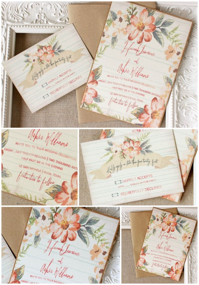 Peach Wedding Invitations Peach Floral Wedding Invitation I Still Love Weddings