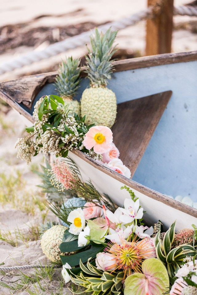 Pineapple Wedding Decor Couture Events Cavin Elizabeth Tropical Estate Wedding Boat