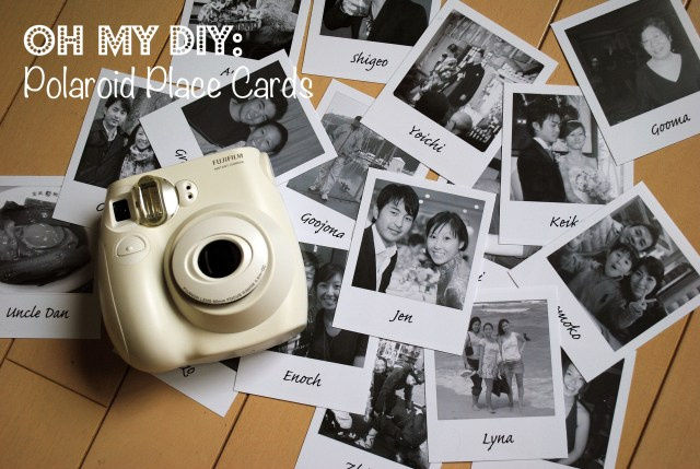 Placecards Wedding Diy Diy Polaroid Place Cards Oh My Omiyage