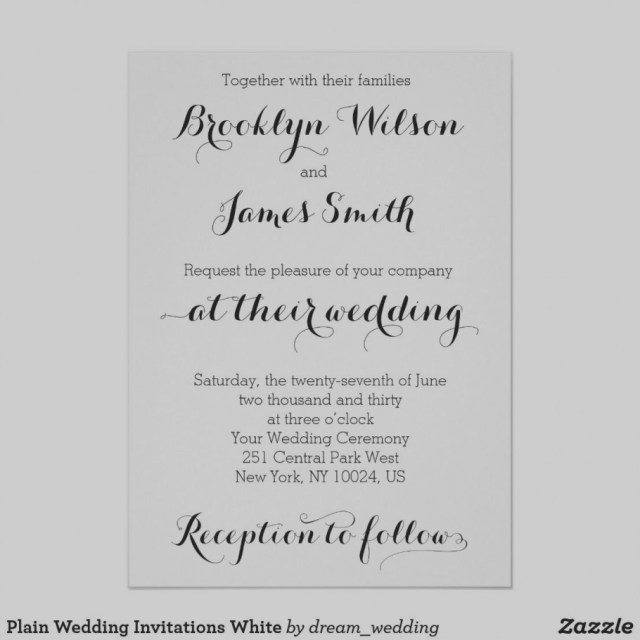 Plain Wedding Invitations 2019 Plain Wedding Invitations Eventinvitationtemplates