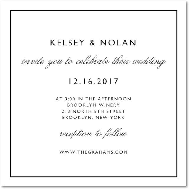 Plain Wedding Invitations Plain Wedding Invitations