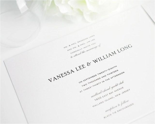 Plain Wedding Invitations Plain White Wedding Invitations Simple Wedding Invitations In Black