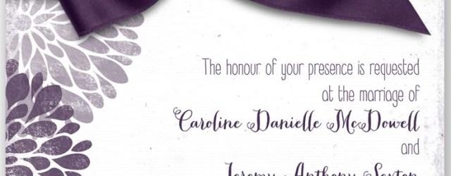 Plum Wedding Invitations Burst Of Colorful Love Wedding Invitation In Plum Davids Bridal